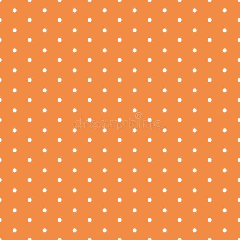 导航与在秋天桔子颜色做的圆点装饰品的无缝的背景 皇族释放例证