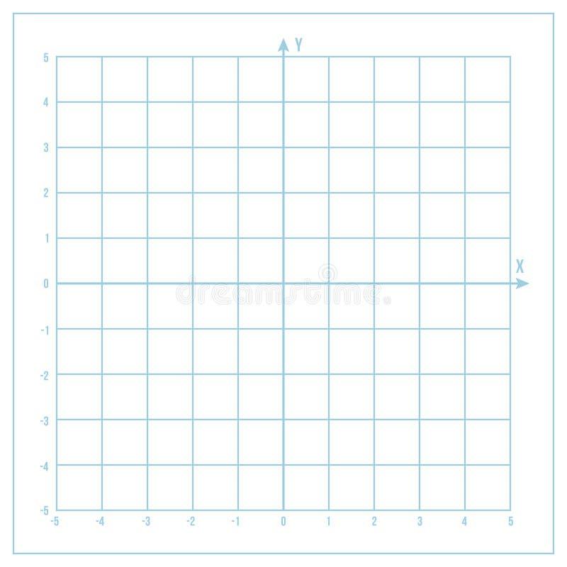 导航与坐标轴的蓝色公尺座标图纸 向量例证