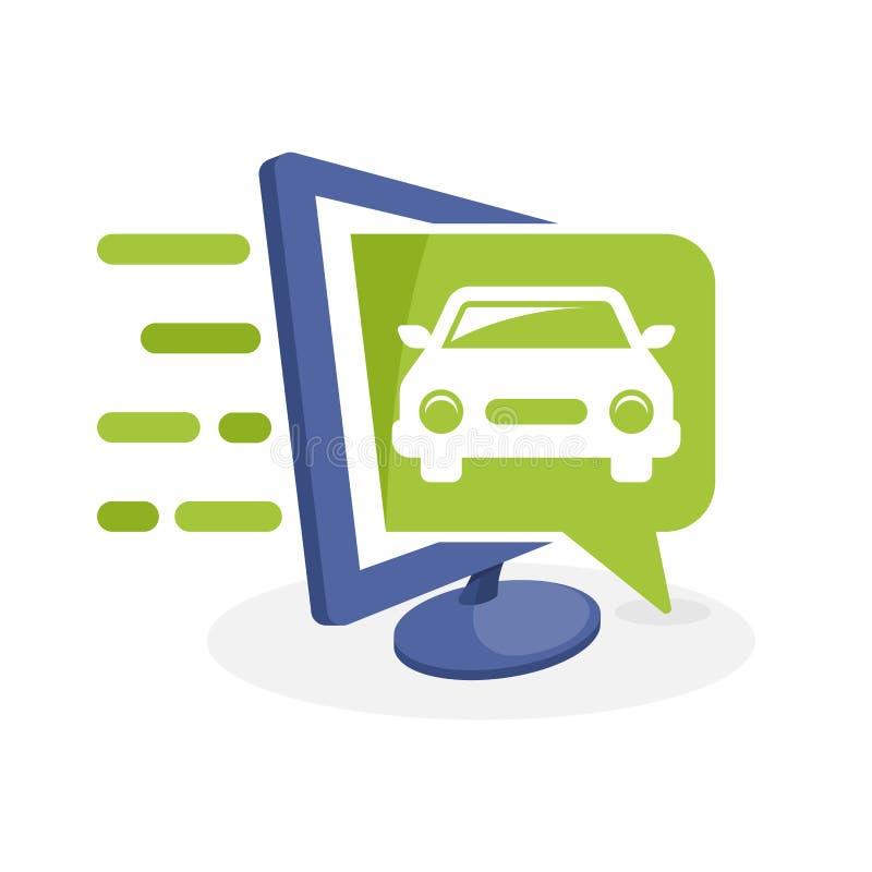 导航与数字式媒介概念的象例证关于汽车汽车信息 向量例证