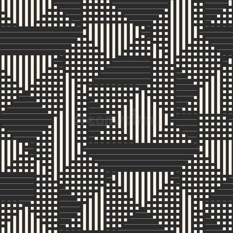 导航与条纹,正方形,线,体育样式的几何无缝的样式 向量例证