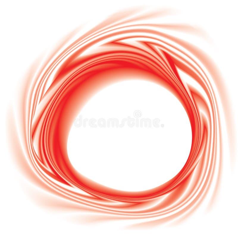 导航与空间的打旋的红色背景文本的 向量例证