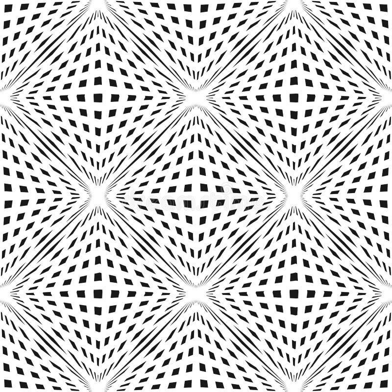导航与立方体形状的几何方格的无缝的样式 3D容量错觉作用 皇族释放例证