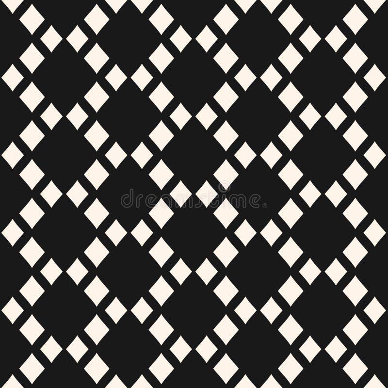 导航与菱形栅格的抽象几何无缝的样式 皇族释放例证