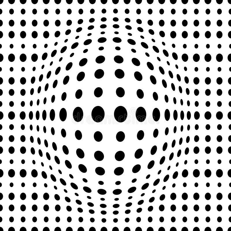 导航与被加点的不同的大小的圈子的几何被加点的3d无缝的样式 库存例证