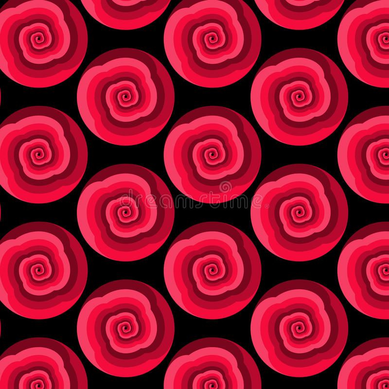 导航与转动的形状的抽象无缝的样式在红色树荫下  皇族释放例证