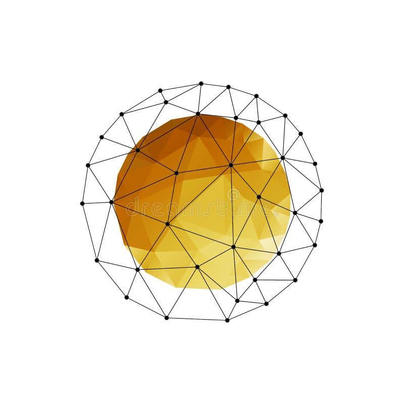 导航与金三角的颜色抽象几何球形 皇族释放例证