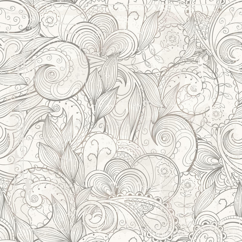 导航与难看的东西作用的花卉抽象手拉的背景 皇族释放例证