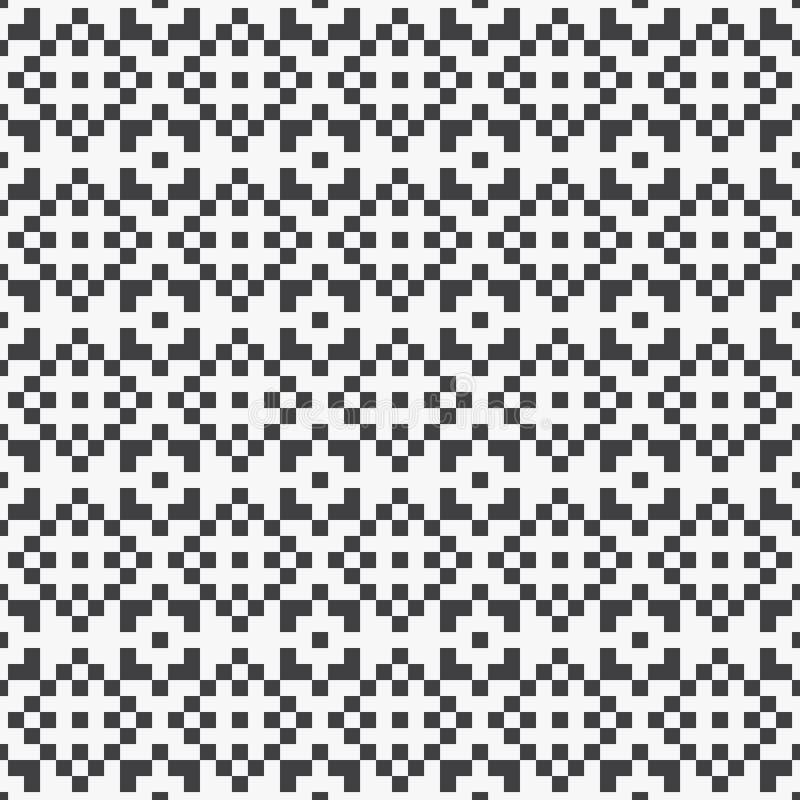 导航与颜色黑色的几何设计映象点正方形装饰背景无缝的样式 向量例证