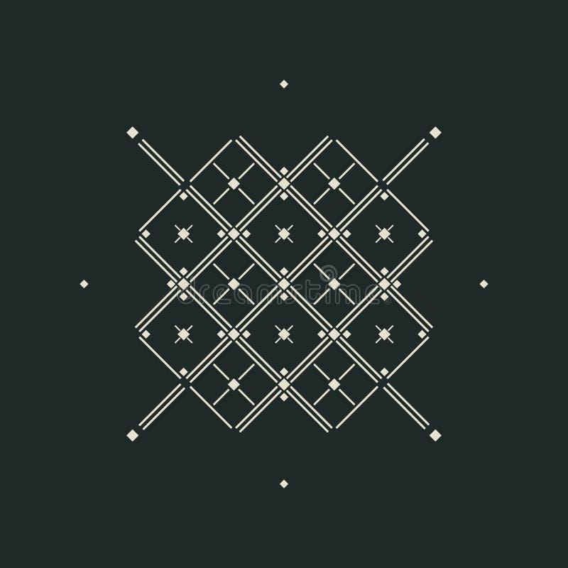 导航与rhombs十字架和线的抽象背景 库存例证