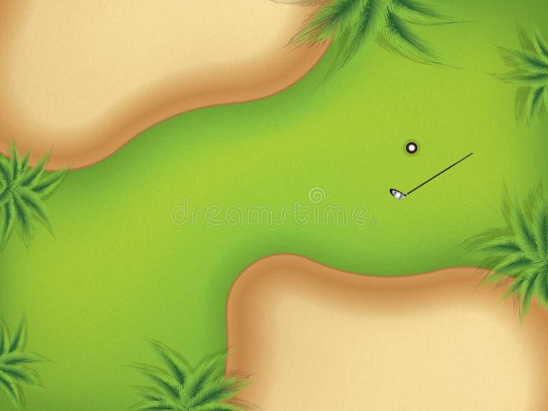 导航两个沙子地堡的例证在高尔夫球场的 皇族释放例证