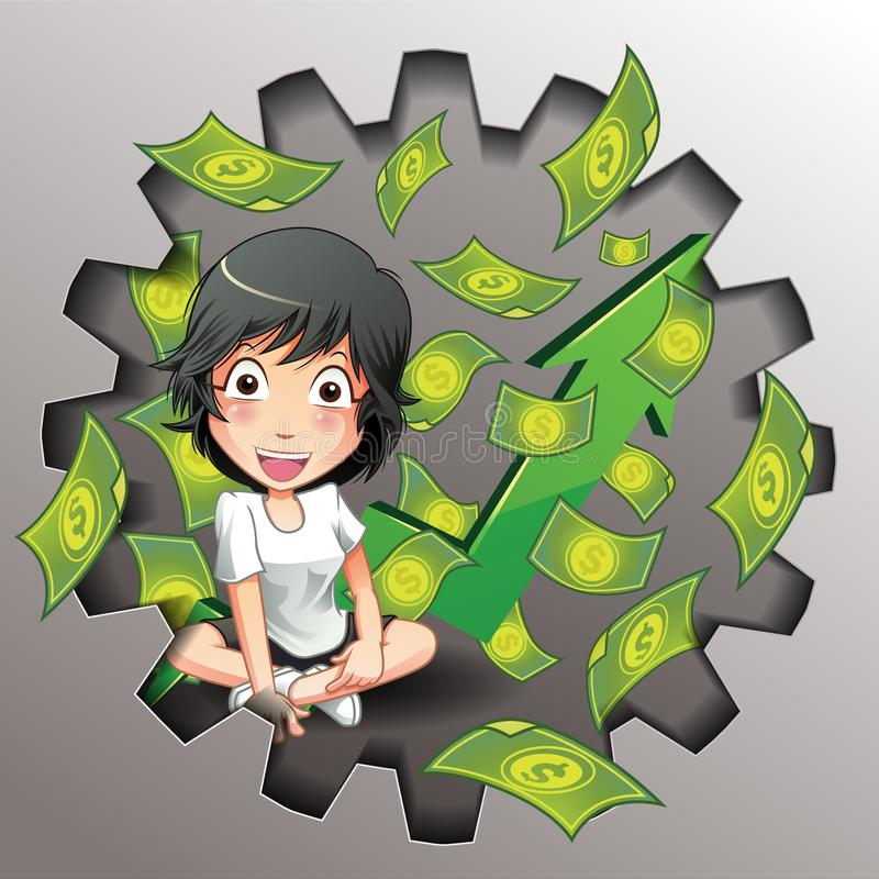 导航事务和金钱比赛 库存例证