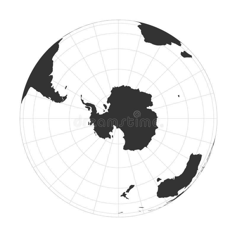 导航于南极洲和南极集中的地球地球 库存例证
