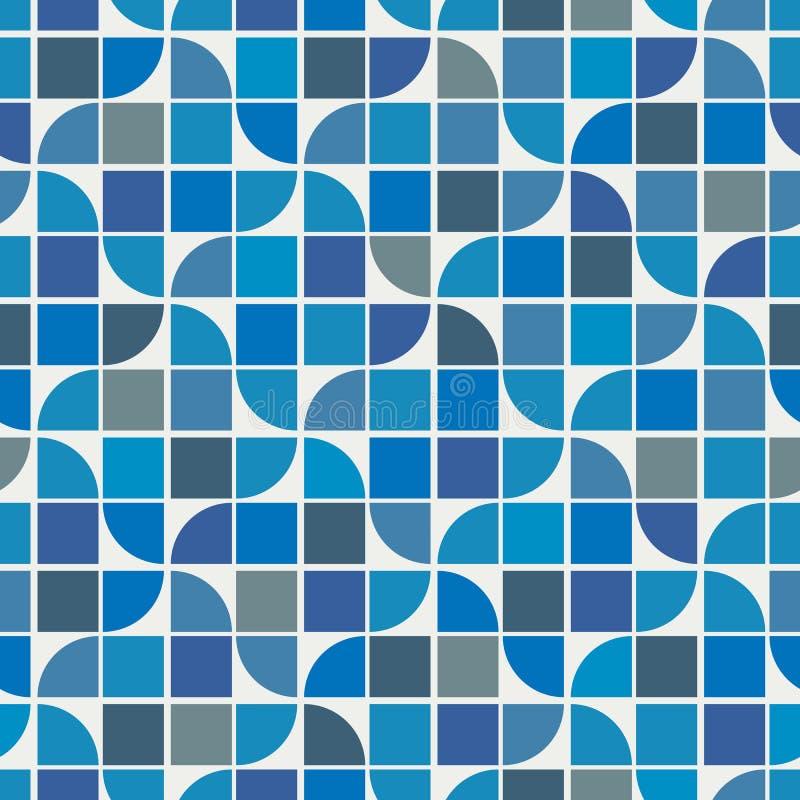 导航五颜六色的几何背景,水波题材摘要 向量例证