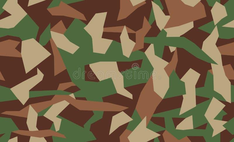 导航伪装无缝的样式 T恤杉的卡其色的设计样式 军事纹理,camo衣物 向量例证