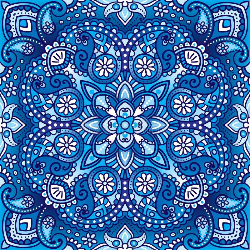 导航佩兹利东方方巾,枕头,毯子设计图片