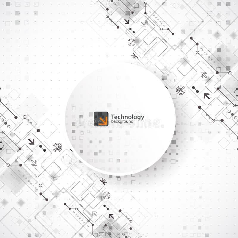 导航例证、高科技数字技术和工程学, 库存例证