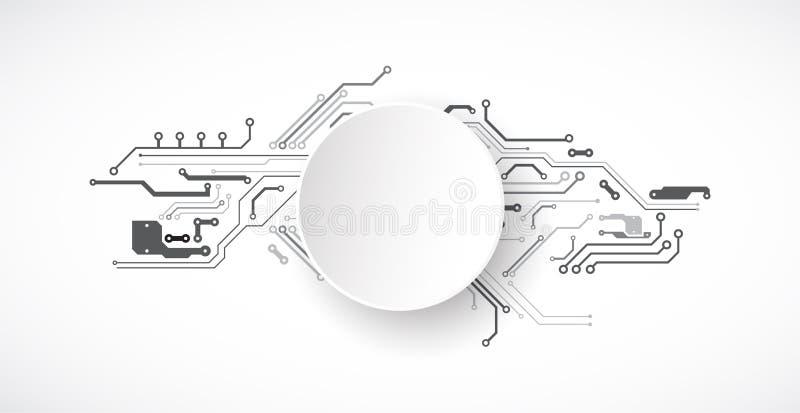 导航例证、高科技数字技术和工程学 向量例证