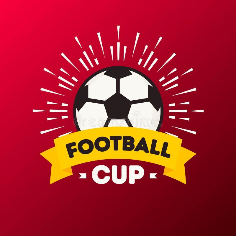 导航例证世界橄榄球杯子足球比赛背景红颜色 皇族释放例证