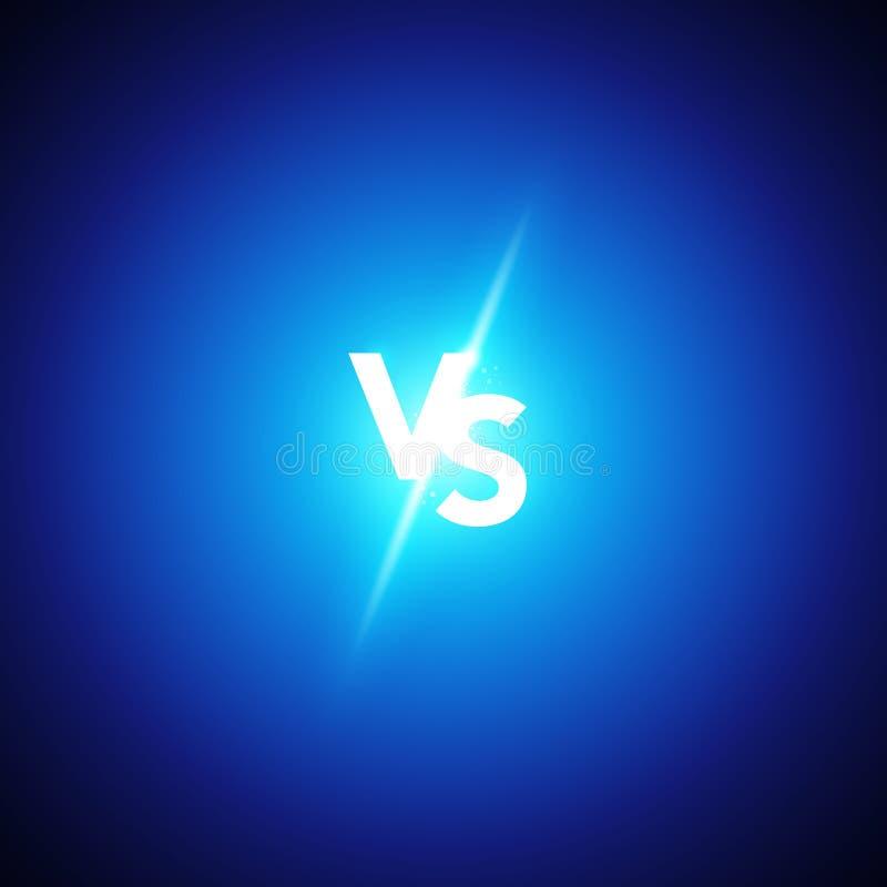 导航例证氖对商标对体育的信件并且与竞争战斗 争斗比赛,比赛概念竞争对 库存例证