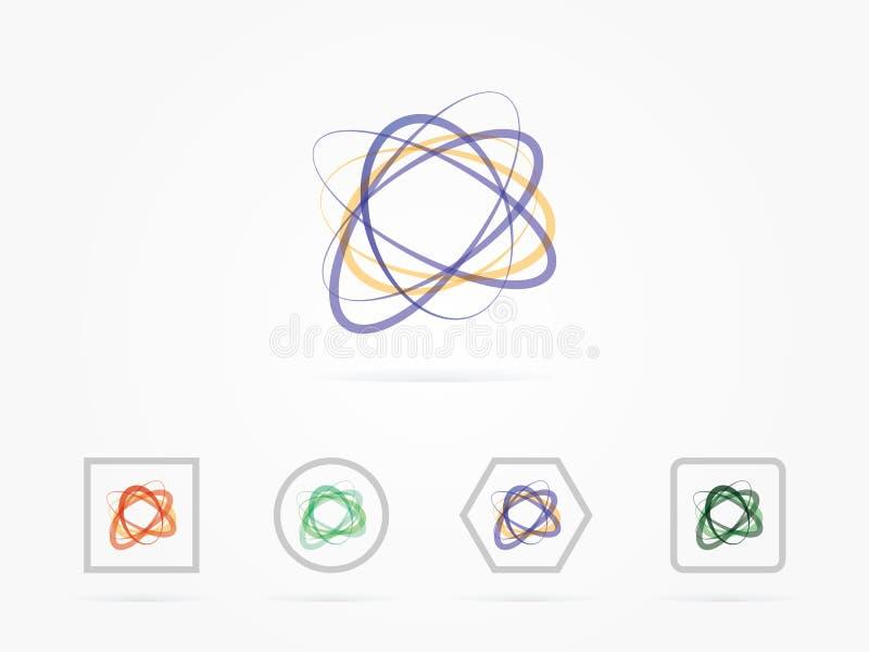 导航例证点,并且线修建了技术感觉摘要例证 向量例证