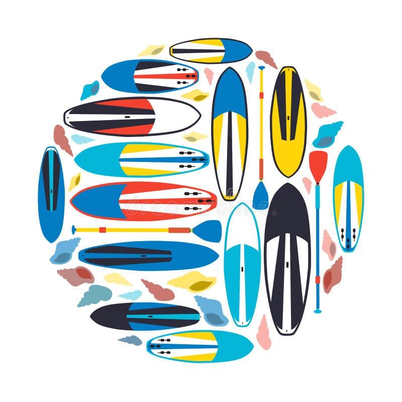 导航例证站立持续的明轮轮叶和桨  向量例证