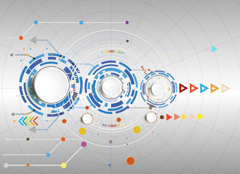 导航例证高科技数字式和工程学电信技术 库存例证