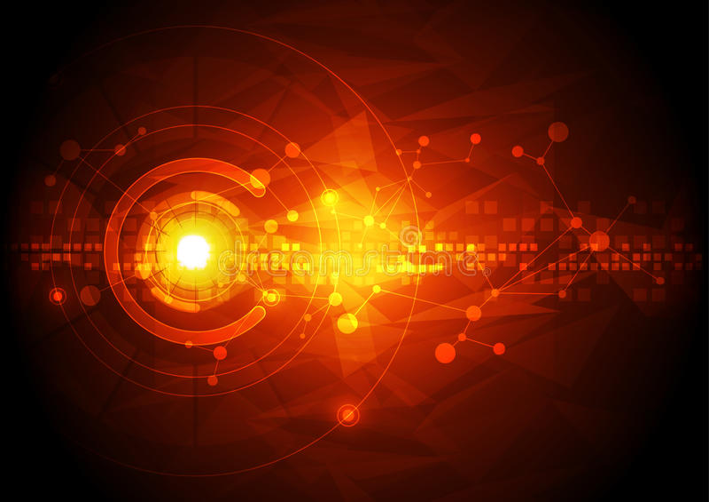 导航例证高科技数字技术概念,抽象背景