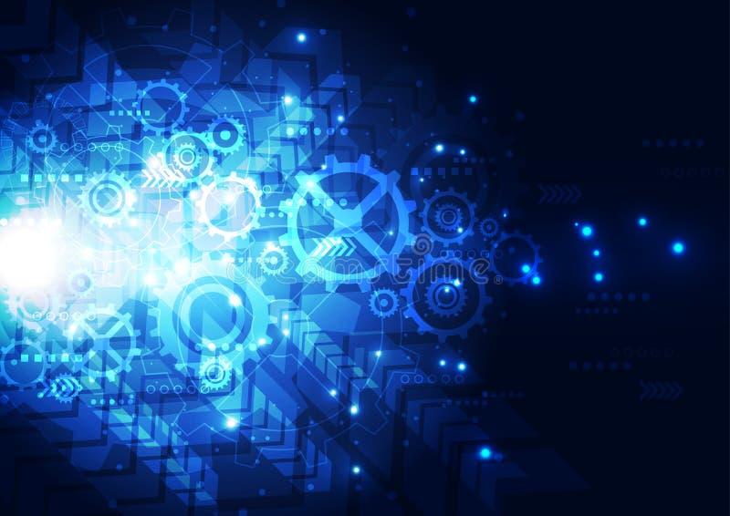 导航例证高科技数字技术概念,抽象背景 皇族释放例证