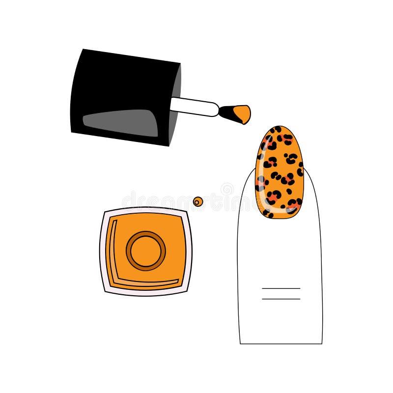 导航例证,指甲油的不同的类型在钉子的 向量例证