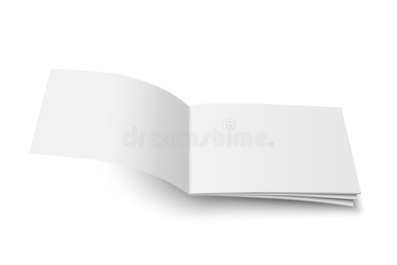 导航假装杂志白色封口盖板 皇族释放例证