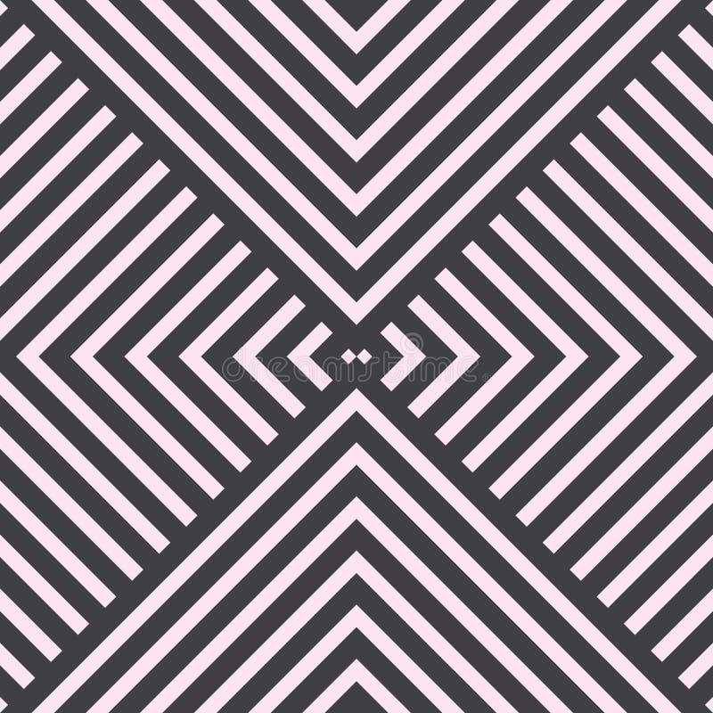 导航几何大胆的线墙纸和背景的无缝的样式 库存例证