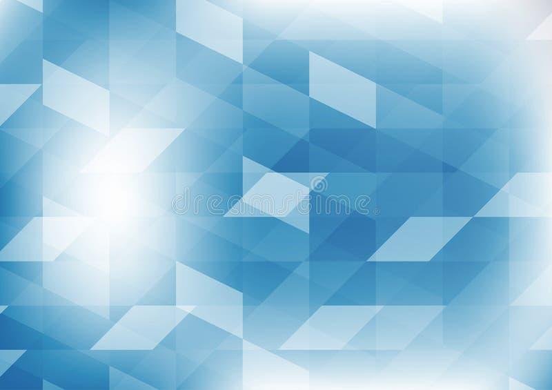 导航几何蓝色彩色插图图表抽象背景 传染媒介您的事务的多角形设计 向量例证