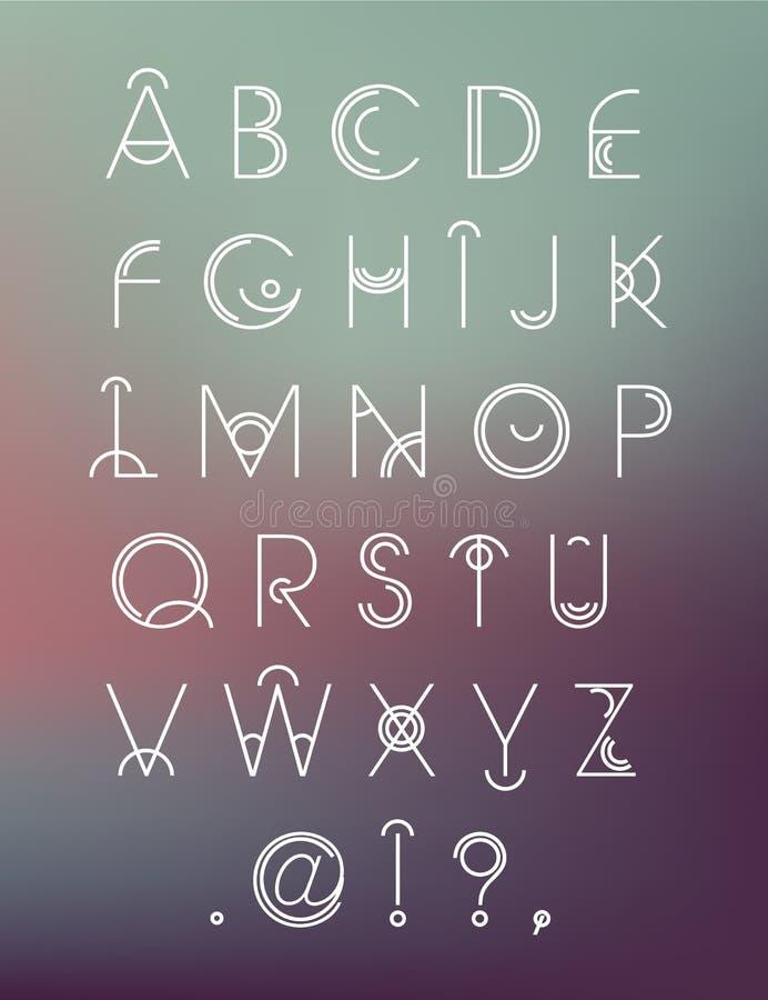 导航几何行家现代创造性的字体, abc 皇族释放例证