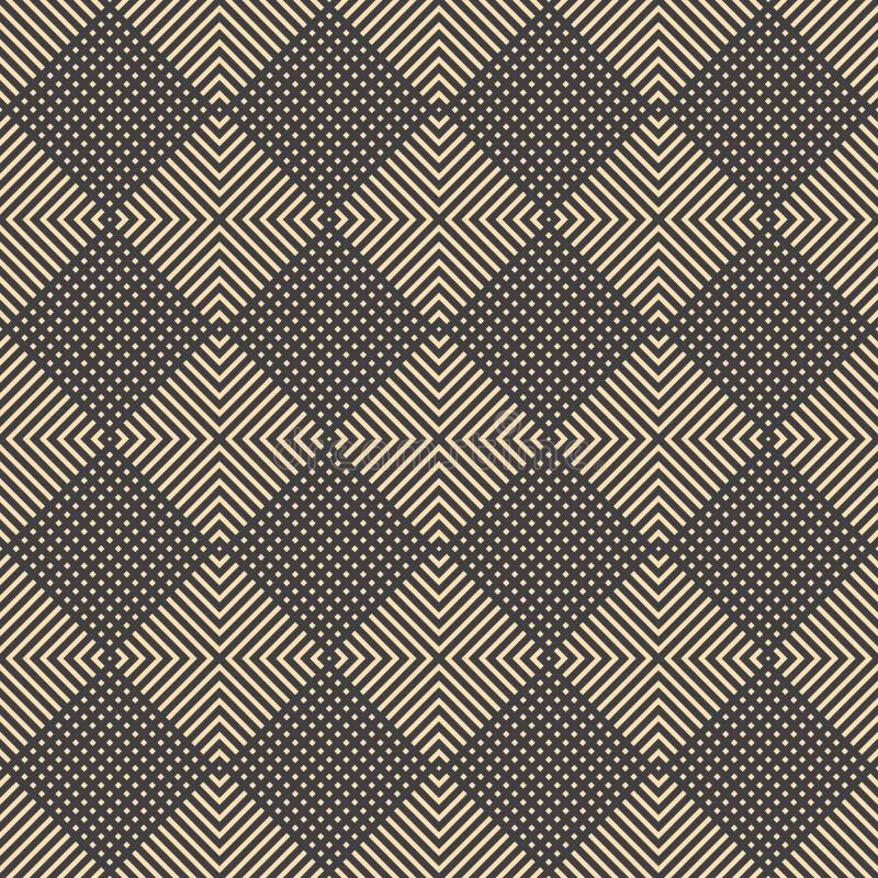 导航几何装饰品墙纸和背景的被塑造的菱形无缝的样式 皇族释放例证