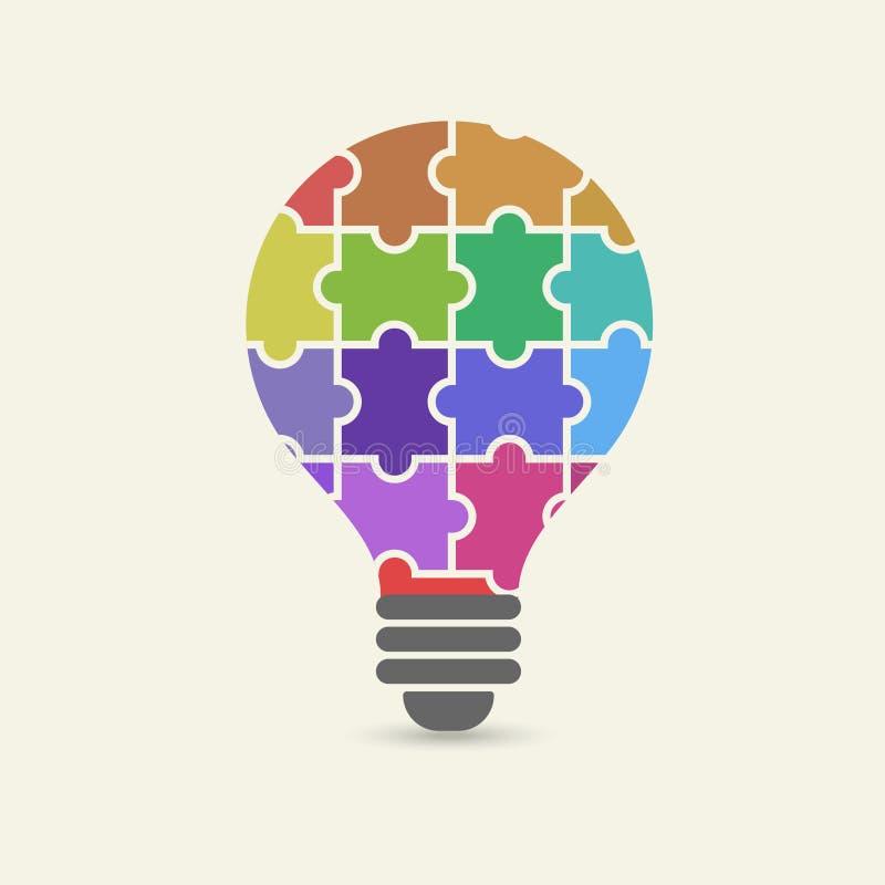 导航创造性的配合的概念与电灯泡难题和人的手的 皇族释放例证