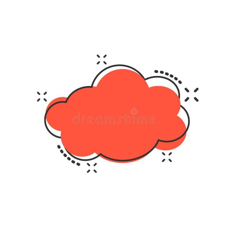 导航动画片云彩在可笑的样式的天空象 气泡标志il 库存例证