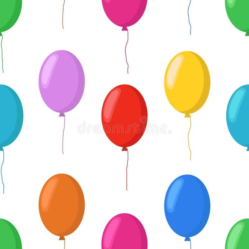 导航动画片气球无缝的样式,党元素 库存例证