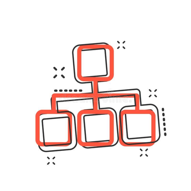 导航动画片结构在可笑的样式的图象 图orga 皇族释放例证