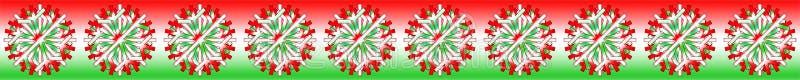 导航匈牙利旗子在背景的白色红色绿色圣诞节星与颜色启发的,作为酒吧、横幅、边界等等 E 向量例证