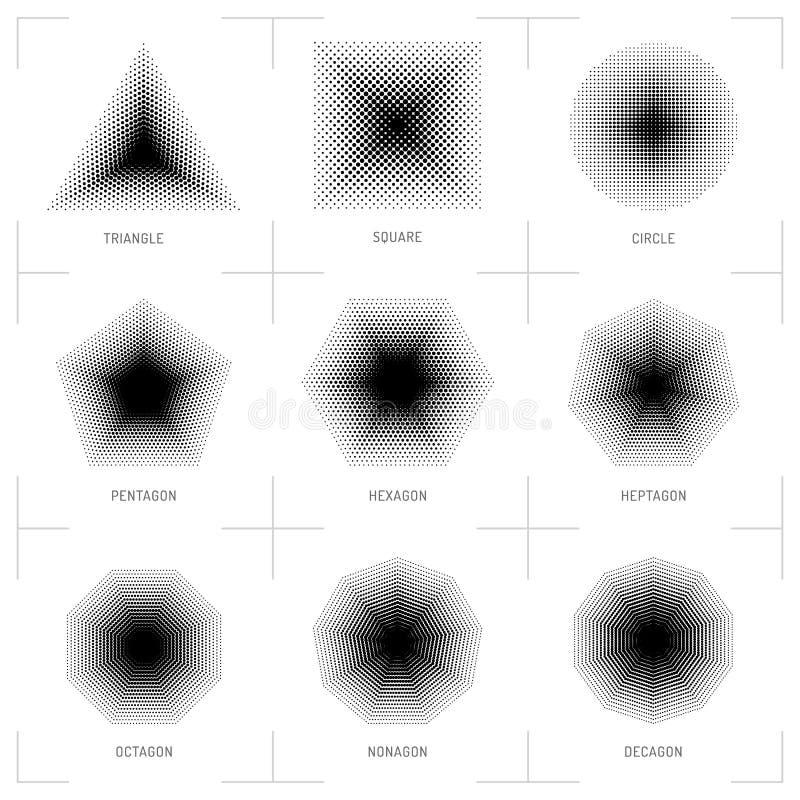 导航半音几何形状,光点图形,抽象背景 皇族释放例证