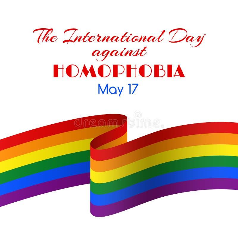 导航卡片为国际天反对同性恋恐惧症 皇族释放例证
