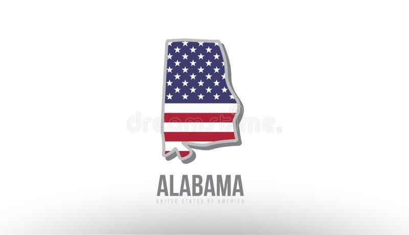 导航县状态的例证与美国美国旗子的 向量例证