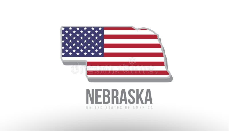 导航县状态的例证与美国美国旗子的 皇族释放例证