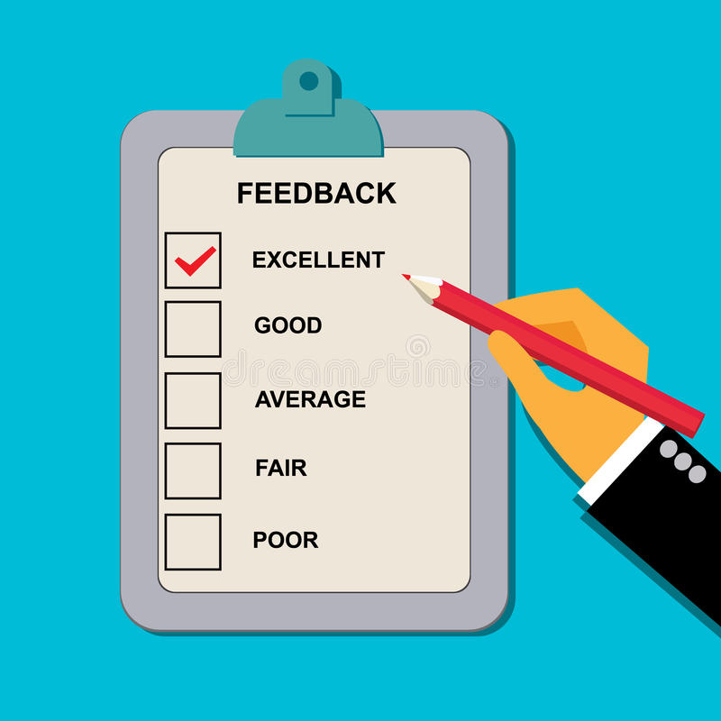 导航反馈在平的样式的评价表的例证网的 皇族释放例证