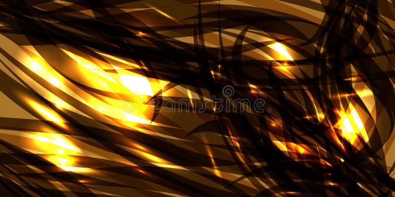 导航发光的宇宙古铜色背景由黑金属线制成 皇族释放例证