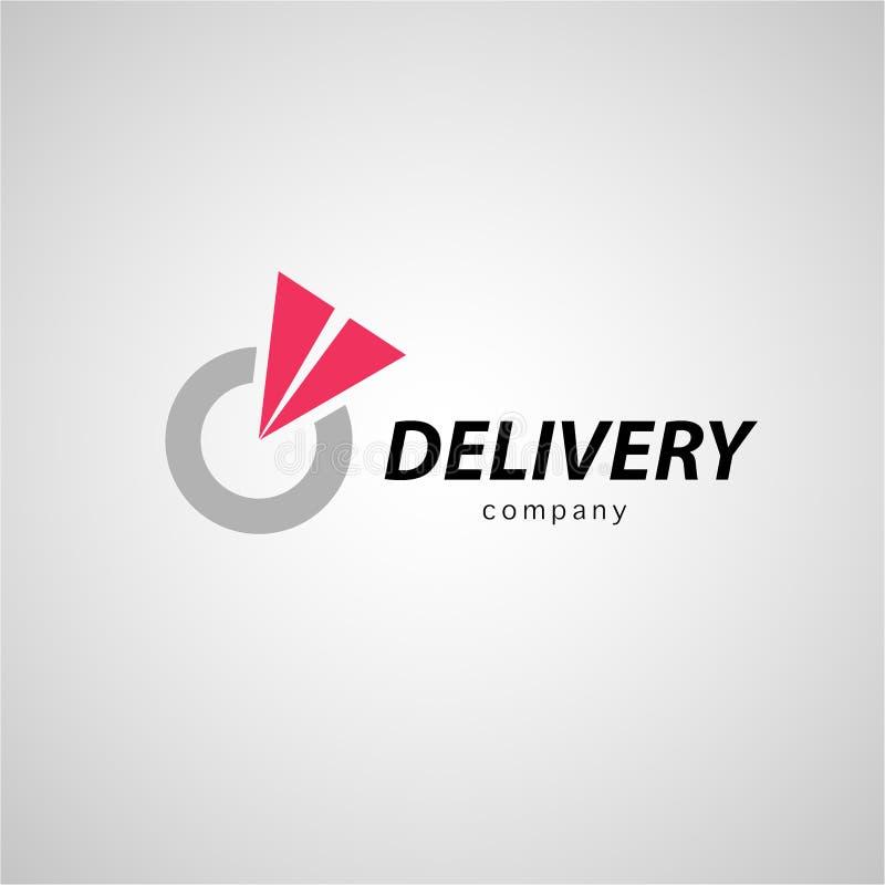 导航后勤学和运送公司的平的商标模板 库存例证