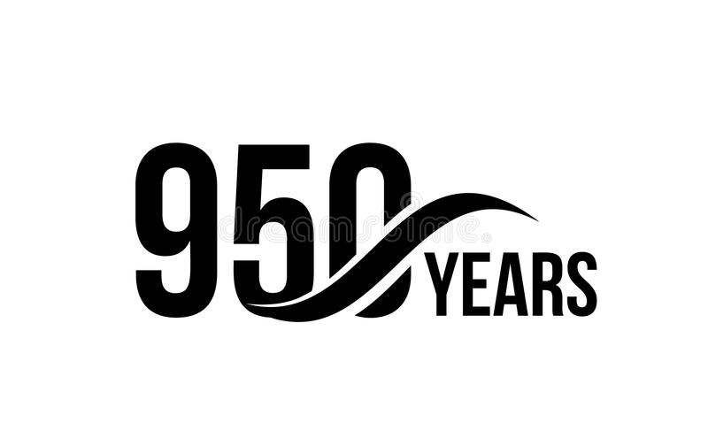 导航商业公司生日象设计元素的被隔绝的周年日期商标模板 九百五十 向量例证