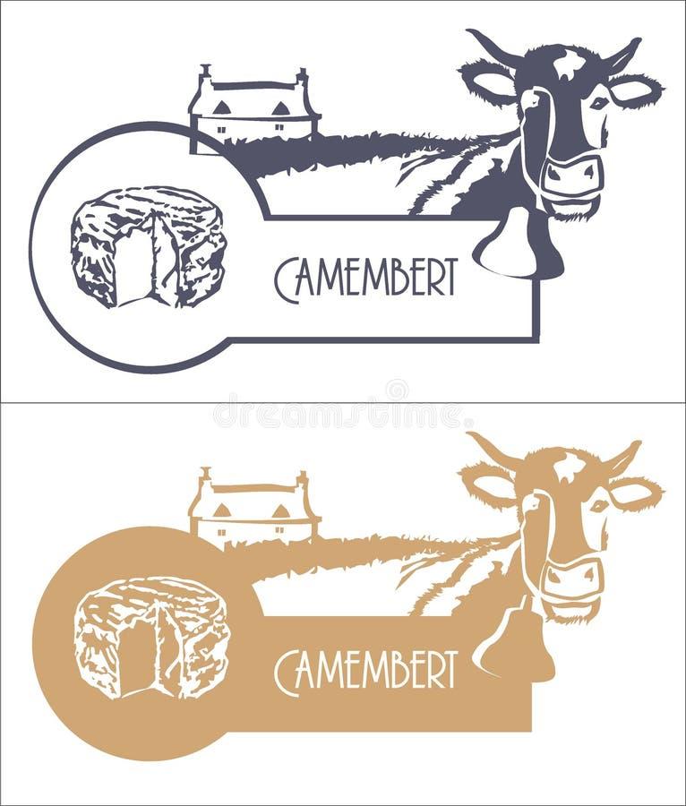 导航图片乳酪、母牛和农场蓝色和米黄颜色的 免版税库存照片