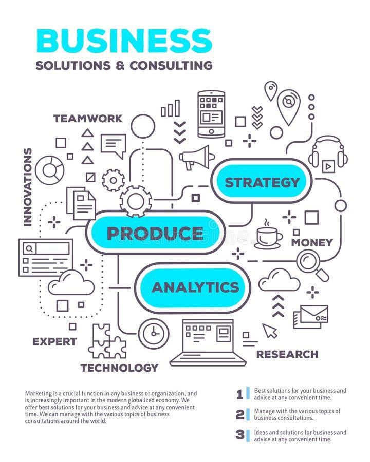导航图表企业项目w的创造性的概念例证 库存例证