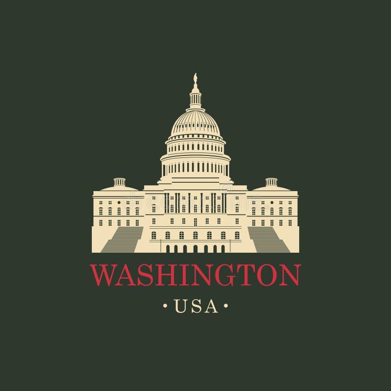 导航图象美国在华盛顿特区的国会大厦大厦 皇族释放例证